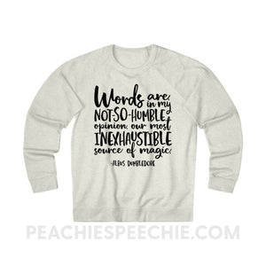 Terry Sweatshirt | Magic Quote - XS / Oatmeal Heather - Hoodies & Sweatshirts Terry Sweatshirt | Magic Quote peachiespeechie.com