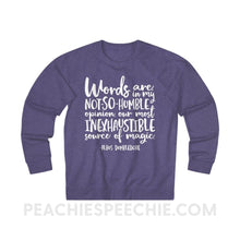 Load image into Gallery viewer, Terry Sweatshirt | Magic Quote - XS / Purple Heather - Hoodies & Sweatshirts Terry Sweatshirt | Magic Quote peachiespeechie.com
