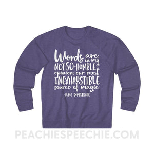 Terry Sweatshirt | Magic Quote - XS / Purple Heather - Hoodies & Sweatshirts Terry Sweatshirt | Magic Quote peachiespeechie.com