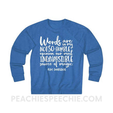 Load image into Gallery viewer, Terry Sweatshirt | Magic Quote - XS / Royal Heather - Hoodies & Sweatshirts Terry Sweatshirt | Magic Quote peachiespeechie.com