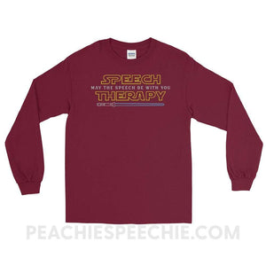 Long Sleeve Tee - Maroon / S - T-Shirts & Tops Long Sleeve Tee peachiespeechie.com