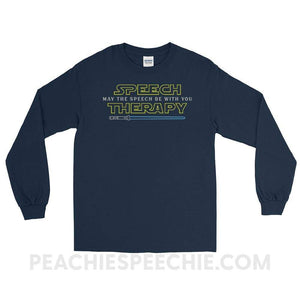 Long Sleeve Tee - Navy / S - T-Shirts & Tops Long Sleeve Tee peachiespeechie.com