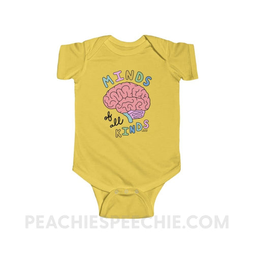 Minds Of All Kinds Baby Onesie - Butter / 12M - Kids clothes Minds Of All Kinds Baby Onesie peachiespeechie.com
