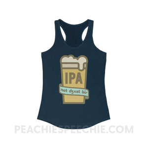 Not Just Beer Superfly Racerback - Solid Midnight Navy / XS - Tank Top Not Just Beer Superfly Racerback peachiespeechie.com