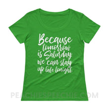 Load image into Gallery viewer, Womens Scoopneck Tee - Green Apple / XS - T-Shirts & Tops Womens Scoopneck Tee peachiespeechie.com