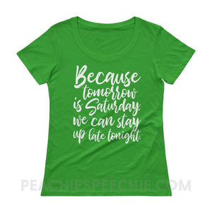 Womens Scoopneck Tee - Green Apple / XS - T-Shirts & Tops Womens Scoopneck Tee peachiespeechie.com