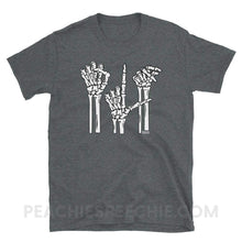 Load image into Gallery viewer, Classic Tee | Skeleton SLP - Dark Heather / S - Classic Tee | Skeleton SLP peachiespeechie.com