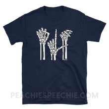 Load image into Gallery viewer, Classic Tee | Skeleton SLP - Navy / S - Classic Tee | Skeleton SLP peachiespeechie.com