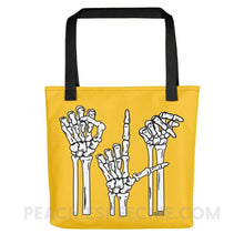 Load image into Gallery viewer, Tote Bag | Skeleton SLP - Black - Tote Bag | Skeleton SLP peachiespeechie.com