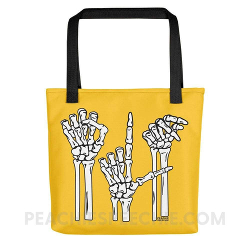 Tote Bag | Skeleton SLP - Black - Tote Bag | Skeleton SLP peachiespeechie.com