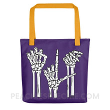 Load image into Gallery viewer, Tote Bag | Skeleton SLP - Yellow - Tote Bag | Skeleton SLP peachiespeechie.com