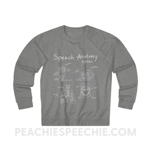 Terry Sweatshirt | Speech Anatomy Notes - XS / Graphite Heather - Sweatshirt Terry Sweatshirt | Speech Anatomy Notes peachiespeechie.com