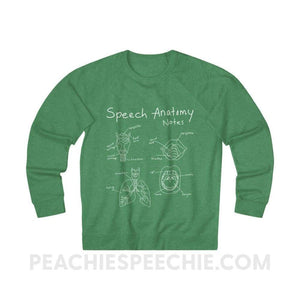 Terry Sweatshirt | Speech Anatomy Notes - XS / Kelly Heather - Sweatshirt Terry Sweatshirt | Speech Anatomy Notes peachiespeechie.com