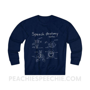 Terry Sweatshirt | Speech Anatomy Notes - XS / Navy - Sweatshirt Terry Sweatshirt | Speech Anatomy Notes peachiespeechie.com
