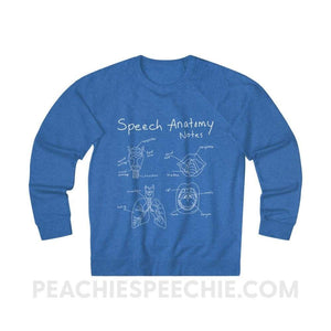 Terry Sweatshirt | Speech Anatomy Notes - XS / Royal Heather - Sweatshirt Terry Sweatshirt | Speech Anatomy Notes peachiespeechie.com