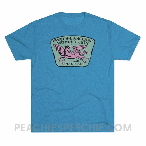 Speech-Language Pathologists Are Magical Vintage Tri-Blend - Tri-Blend Vintage Turquoise / L - T-Shirt Speech-Language Pathologists Are