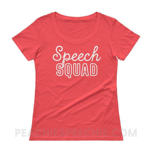 Womens Scoopneck Tee - Coral / XS - T-Shirts & Tops Womens Scoopneck Tee peachiespeechie.com