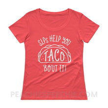 Load image into Gallery viewer, Womens Scoopneck - Coral / XS - T-Shirts & Tops Womens Scoopneck peachiespeechie.com
