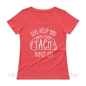 Womens Scoopneck - Coral / XS - T-Shirts & Tops Womens Scoopneck peachiespeechie.com