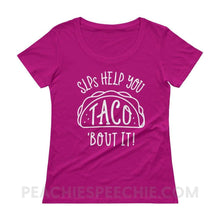 Load image into Gallery viewer, Womens Scoopneck - Raspberry / XS - T-Shirts & Tops Womens Scoopneck peachiespeechie.com