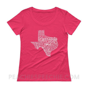 Womens Scoopneck Tee | Texas SLP - Hot Pink / XS - T-Shirts & Tops Womens Scoopneck Tee | Texas SLP peachiespeechie.com