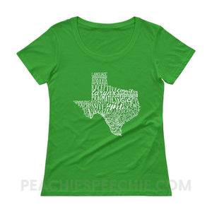 Womens Scoopneck Tee | Texas SLP - Green Apple / XS - T-Shirts & Tops Womens Scoopneck Tee | Texas SLP peachiespeechie.com