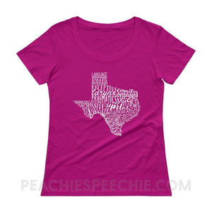 Womens Scoopneck Tee | Texas SLP - Raspberry / XS - T-Shirts & Tops Womens Scoopneck Tee | Texas SLP peachiespeechie.com