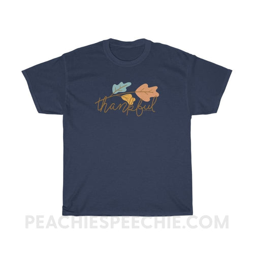 Thankful Classic Tee - Navy / L - T-Shirt Thankful Classic Tee peachiespeechie.com