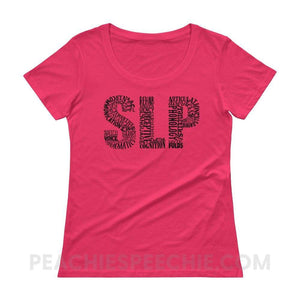 Womens Scoopneck Tee - Hot Pink / XS - T-Shirts & Tops Womens Scoopneck Tee peachiespeechie.com