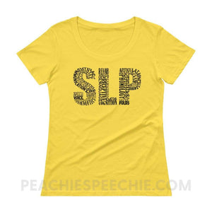Womens Scoopneck Tee - Lemon Zest / XS - T-Shirts & Tops Womens Scoopneck Tee peachiespeechie.com