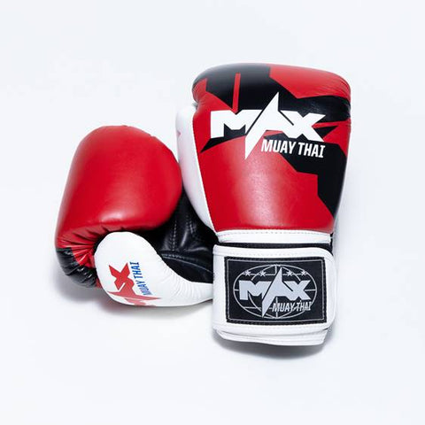 Max Muay Thai Boxing Gloves - Genuine Leather