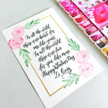 Easy to Create - Floral Watercolour Frame Border!