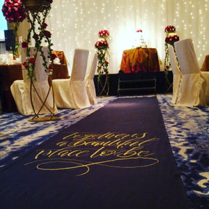 Customised Aisle Runner