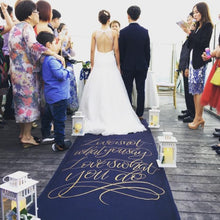 Load image into Gallery viewer, Customised Aisle Runner