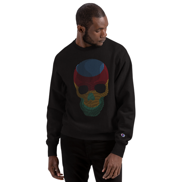 Pilgrim's Rainbow Laughing Skull/ Champion Sweatshirt