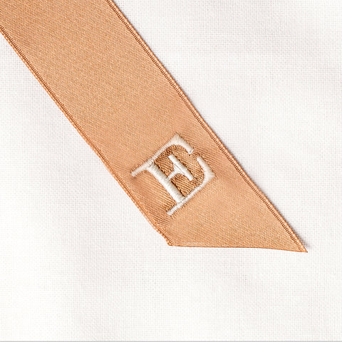 Personalised monogrammed hair ribbon