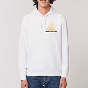 Unisex Fit Logo Hoodie With Pocket - White