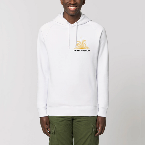 Unisex Fit Logo Hoodie With No Pocket - White