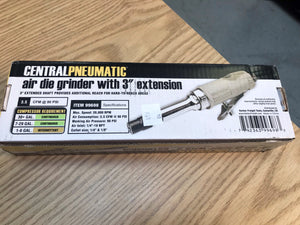 "Central Pneumatic Extended 3"" Air Die Grinder Part #: 99698"