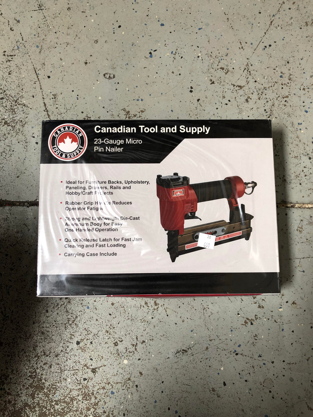 Canadian Tool and Supply 23 Gauge Micro Pin Nailer Part #: MPN-23