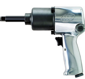 "Super Duty Impact Wrench with Extended Anvil Part #: IR-231HA 2  Extended Anvil: 2""  Drive: 1/2""  Max Torque Forward/Reverse: 350-590 ft-lbs  RPM: 8000  dBA: 105"