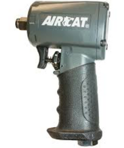 "Compact and Silent Air Impact Wrench, 4.45"" Long Part #: ACA-1055 TH Drive: 1/2"" RPM: 9000 dBA: 89"