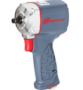 "Quiet Ultra Compact Impact Wrench, 4.6"" Long Part #: IR-15QMAX  Drive: 3/8""  Loosening Torque: 475 ft-lbs  Max Torque Forward/Reverse: 310 ft-lbs  RPM: 6000  dBA: 89.7"