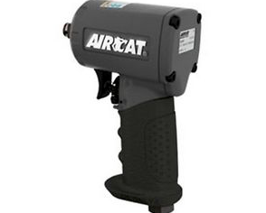 "Compact and Silent Air Impact Wrench, 4.45"" Long Part #: ACA-1075 TH Drive: 3/8"" RPM: 9000 dBA: 89"