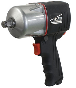 "Composite Impact Wrench with 4 Torque Settings Part #: SPA-SP 7144 Drive: 1/2"" RPM: 6500 dBA: 93.1"