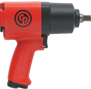 "Heavy Duty Impact Wrench Part #: CP-7736  Drive: 1/2""  Max Torque Forward/Reverse: 568-664 ft-lbs  RPM: 10,020  dBA: 107.8"