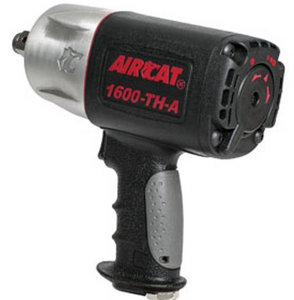 "Super Duty Composite Impact Wrench Part #: ACA-1600 TH A  Drive: 3/4""  Loosening Torque: 1600 ft-lbs  Max Torque Forward/Reverse: 200-1400 ft-lbs  RPM: 4500  dBA: 86"