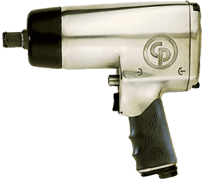 "Heavy Duty Impact Wrench Part #: CP-772H  Drive: 3/4""  Max Torque Forward/Reverse: 700-1000 ft-lbs  RPM: 4200  dBA: 107"