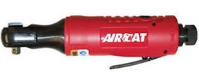 "MINI Composite Air Ratchet Part #: ACA-804  Drive: 1/4""  Max Torque: 30 ft-lbs  RPM: 280  dBA: 84"