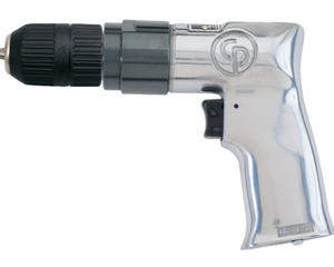 "General Duty Air Drill With Keyless Chuck Part #: CP-785QC  Chuck: 3/8""  Free Speed: 2400 RPM  Length: 7""  Weight: 2.25 lbs  dBA: 101"